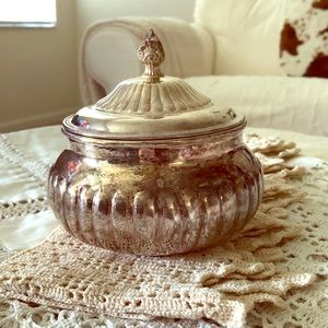 GUC Vintage Silver Plated Lidded Container
